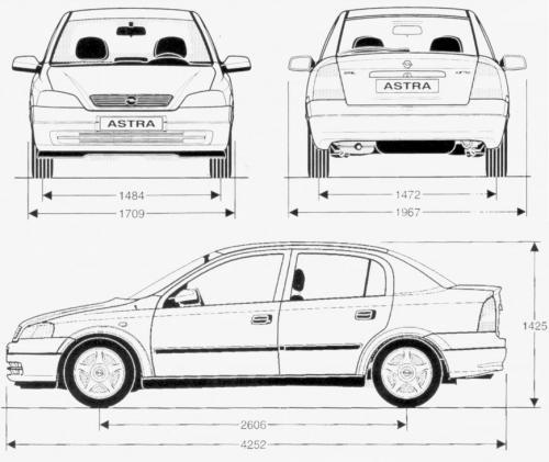 opel astra g sedan  u2022 dane techniczne  u2022 autocentrum pl