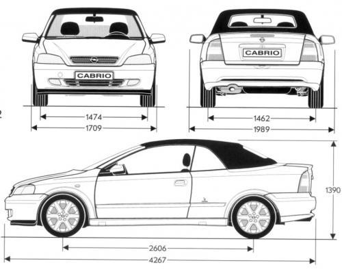 opel astra g cabrio  u2022 dane techniczne  u2022 autocentrum pl