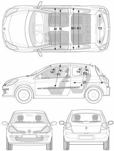 renault clio iii hatchback 5d dane techniczne. Black Bedroom Furniture Sets. Home Design Ideas