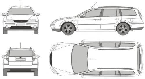 Aktualne Ford Mondeo III Kombi • Dane techniczne • AutoCentrum.pl JL95