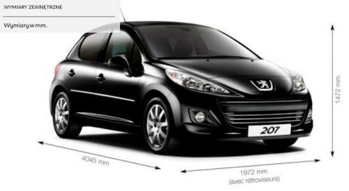 peugeot 207 hatchback 5d • dane techniczne • autocentrum.pl