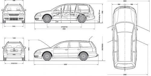 volkswagen passat b5 kombi  u2022 dane techniczne  u2022 autocentrum pl