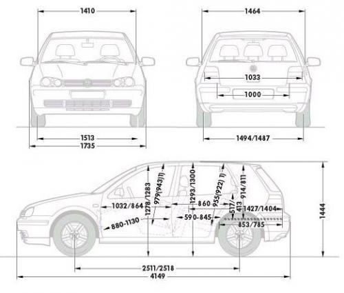 Świeże Volkswagen Golf IV Hatchback • Dane techniczne • AutoCentrum.pl QO38