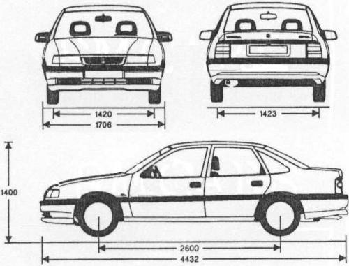 opel vectra a sedan  u2022 dane techniczne  u2022 autocentrum pl