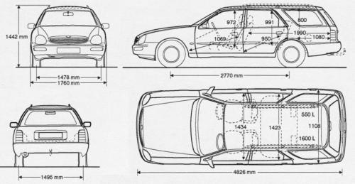 Wspaniały Ford Scorpio II Kombi • Dane techniczne • AutoCentrum.pl DU06
