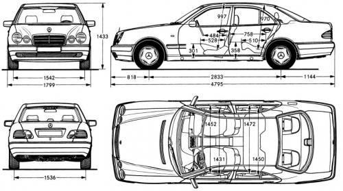 mercedes klasa e w210 sedan  u2022 dane techniczne  u2022 autocentrum pl