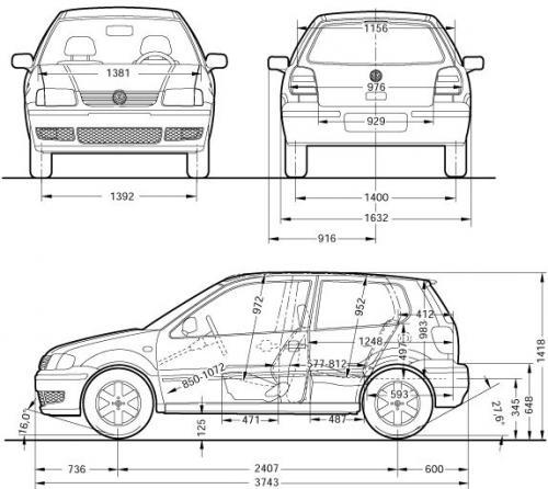 volkswagen polo iii hatchback  u2022 dane techniczne