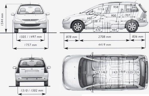 peugeot 307 i kombi  u2022 dane techniczne  u2022 autocentrum pl