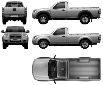 Ford Ranger IV X Cab Facelifting