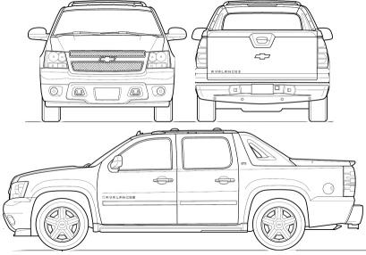 Chevrolet Avalanche GMT 900 Pick Up