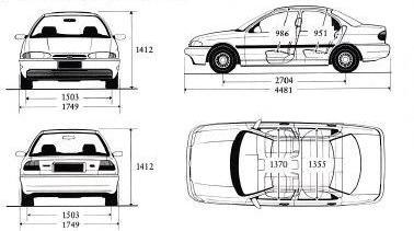 Rewelacyjny Ford Mondeo I Sedan • Dane techniczne • AutoCentrum.pl YL03