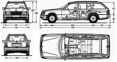 mercedes w124 kombi silniki dane testy. Black Bedroom Furniture Sets. Home Design Ideas