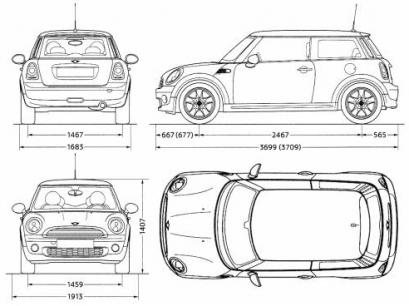 Mini One Hatchback 3d