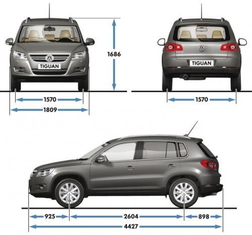 Volkswagen Tiguan I SUV • Dane techniczne • AutoCentrum.pl