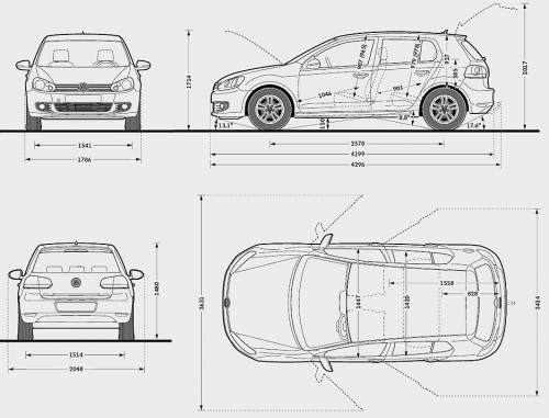Volkswagen Golf Vi Hatchback 5d Dane Techniczne