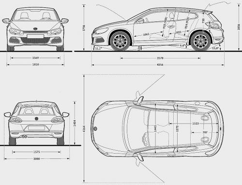 volkswagen scirocco iii coupe  u2022 dane techniczne