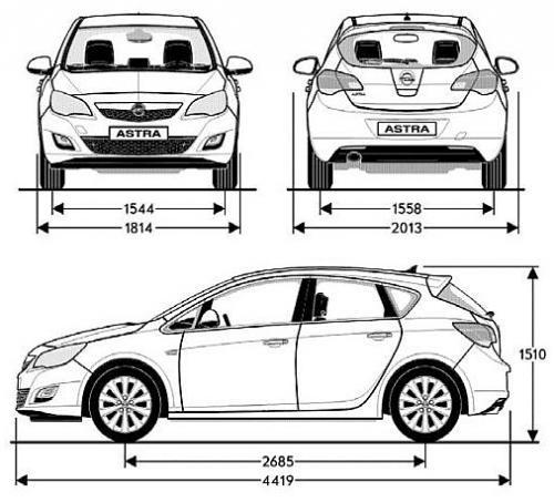 opel astra j hatchback 5d  u2022 dane techniczne  u2022 autocentrum pl