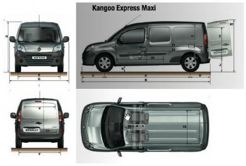 W superbly Renault Kangoo II Express Maxi • Dane techniczne • AutoCentrum.pl WI52