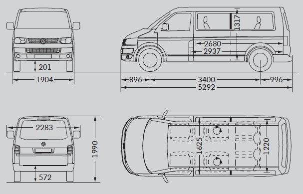 volkswagen caravelle t5 multivan facelifting d ugi rozstaw osi dane techniczne. Black Bedroom Furniture Sets. Home Design Ideas