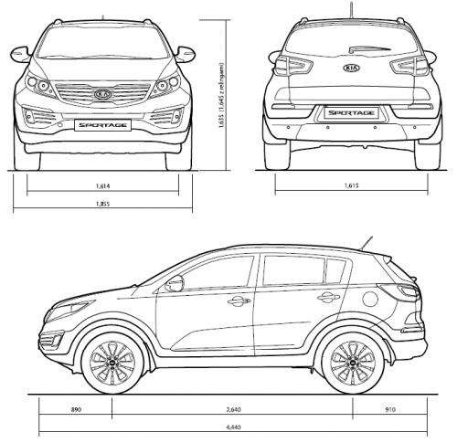 Kia Sportage III SUV • Dane techniczne • AutoCentrum.pl