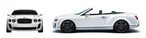 Szkic techniczny Bentley Continental I Supersports Convertible