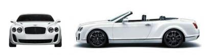 Szkic techniczny Bentley Continental Supersports Convertible
