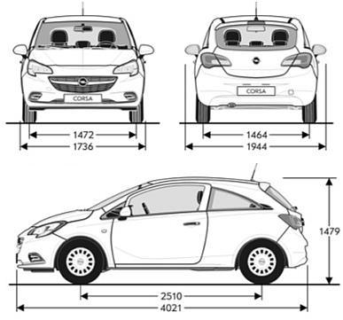 Opel Corsa Sedan Zobacz Dane Techniczne