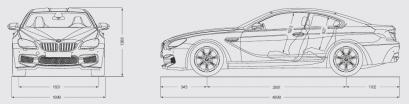 Szkic techniczny BMW Seria 6 F06-F12-F13 M6 Coupe Facelifting