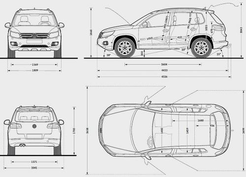 volkswagen tiguan i suv facelifting  u2022 dane techniczne