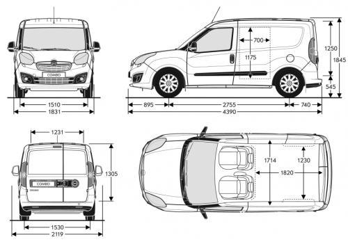 opel combo d van l1  u2022 dane techniczne  u2022 autocentrum pl