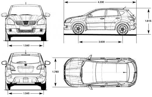 Nissan Qashqai I Crossover Facelifting • Dane techniczne ...