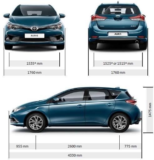 Toyota Auris Ii Hatchback 5d Facelifting Dane Techniczne