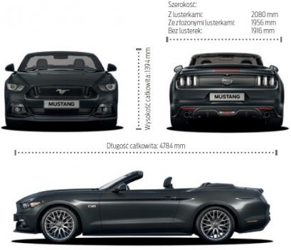Szkic techniczny Ford Mustang VI Convertible