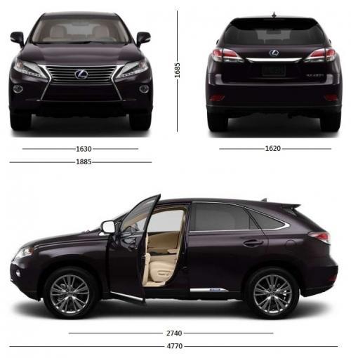 Lexus RX III SUV Facelifting Dane Techniczne