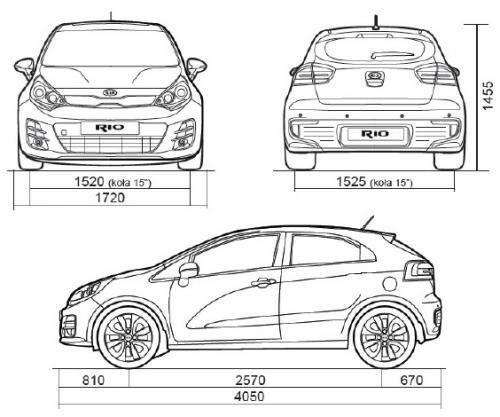 Kia Rio 1 Hatchback: Kia Rio III Hatchback 3d Facelifting • Dane Techniczne