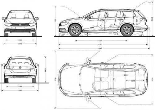 volkswagen passat b8 variant dane techniczne. Black Bedroom Furniture Sets. Home Design Ideas