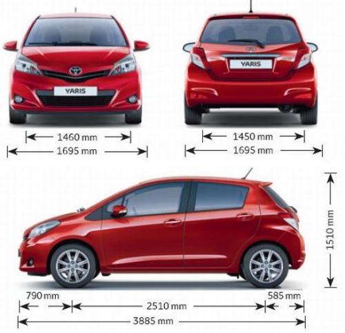 toyota yaris iii hatchback 5d � dane techniczne