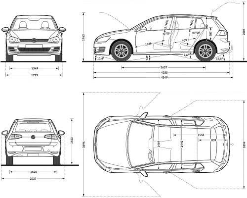 volkswagen golf vii hatchback 5d  u2022 dane techniczne