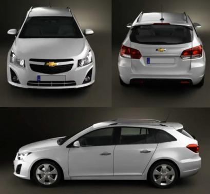 Szkic Techniczny Chevrolet Cruze Kombi