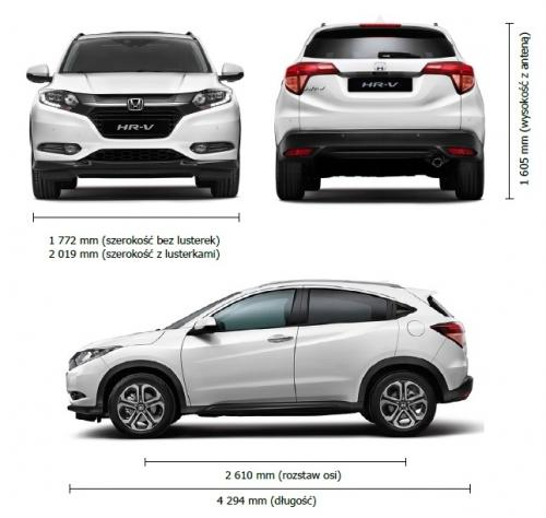 Honda HR-V II • Dane techniczne • AutoCentrum.pl