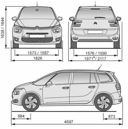 Citroen Grand C4 Picasso II Grand Picasso Facelifting