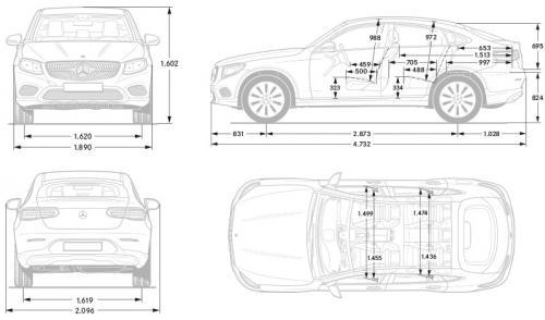 mercedes glc coupe  u2022 dane techniczne  u2022 autocentrum pl