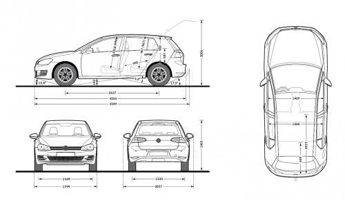 volkswagen golf vii hatchback 3d facelifting  u2022 dane