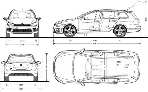 volkswagen golf vii variant facelifting  u2022 dane techniczne