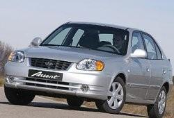 Hyundai Accent II Sedan 1.6 i 16V 105KM 77kW 2003-2005