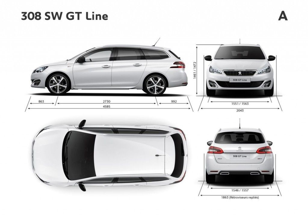 peugeot 308 ii sw gt line 2014 galerie prasowe galeria. Black Bedroom Furniture Sets. Home Design Ideas
