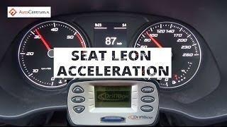 Seat Leon 1,6 TDI 105 PS - acceleration 0-100 km/h