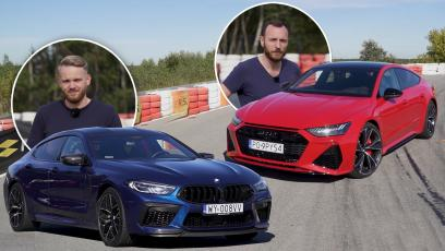 Audi RS7 vs BMW M8 GC Competition - upalamy 2 mln zł