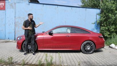 Mercedes E300 Coupe – dodaje stylu wszędzie, nawet w takich miejscach